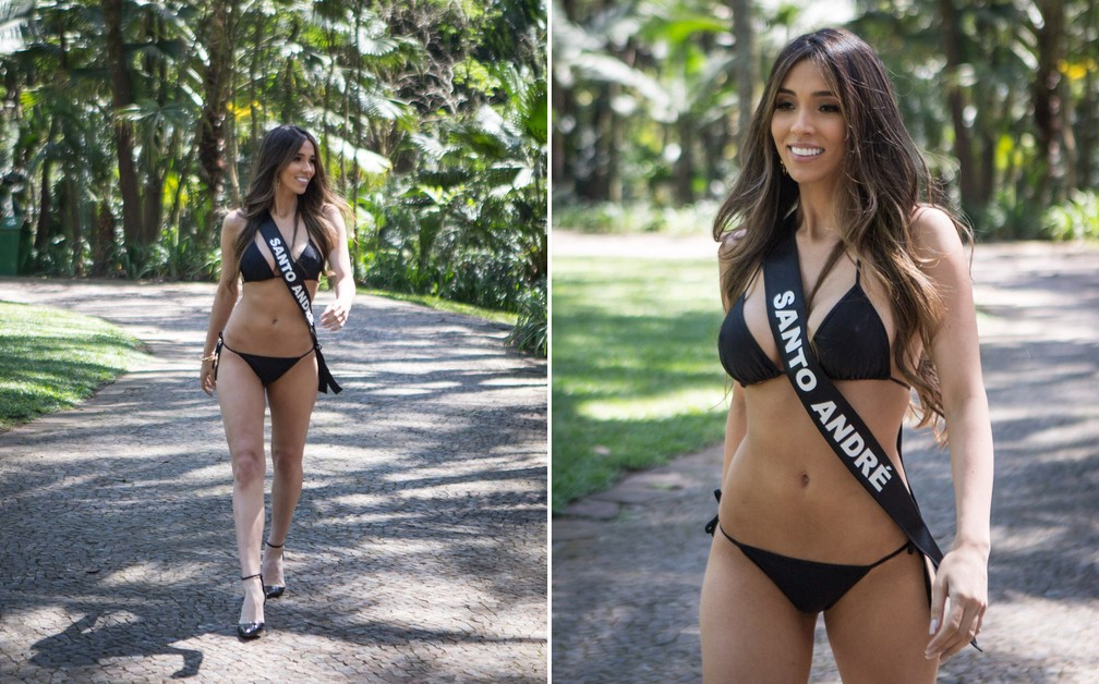 A miss Santo André, Perola Souza, de  24 anos, é modelo — Foto: Fábio Tito/G1