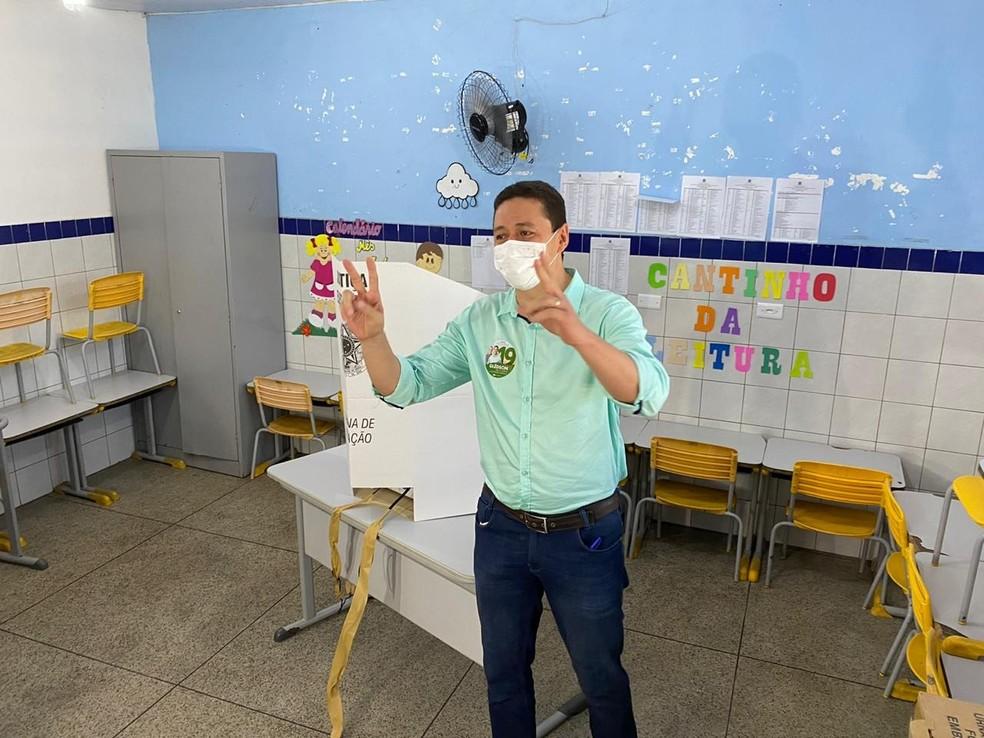 Glêdson Bezerra (Podemos) foi eleito com 38,18% dos votos válidos — Foto: Edson Freitas/ SVM
