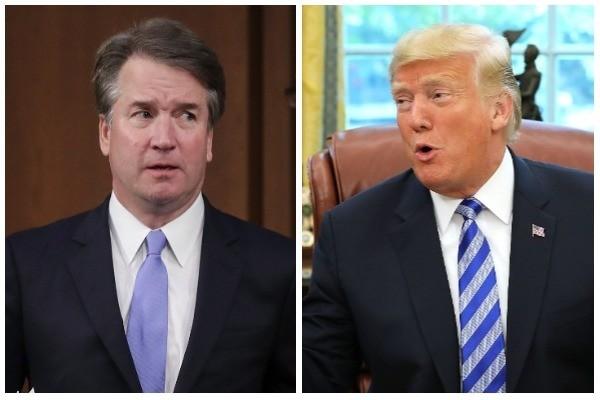 Brett Kavanaugh e Donald Trump (Foto: Getty Images)
