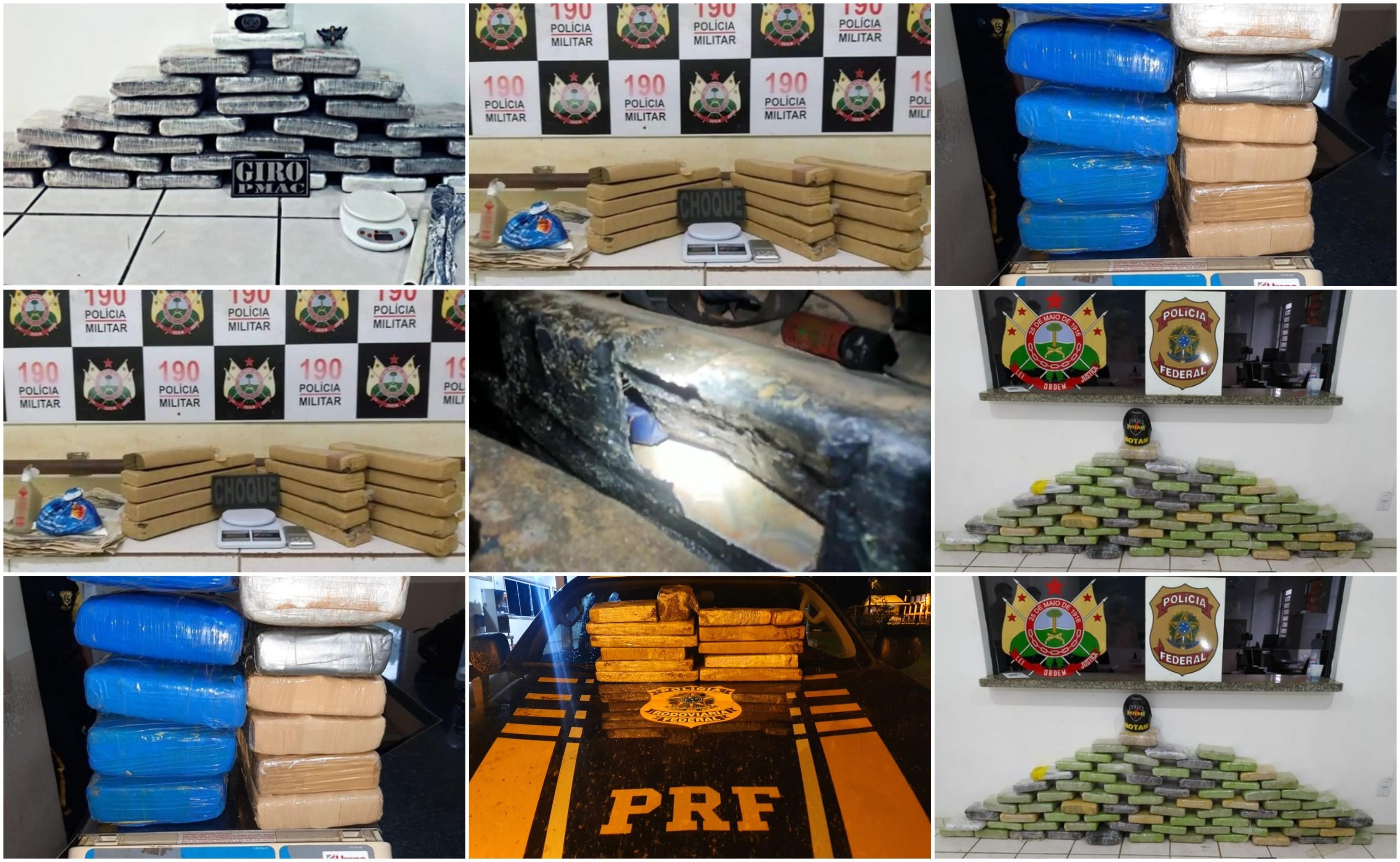Em pouco mais de um mês, polícia apreende quase 600 kg de drogas no Acre