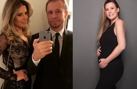 Daiana Garbin, mulher de Tiago Leifert, está grávida: 'Sinto falta de mostrar  a barriga crescendo para família e amigas' Reprodução