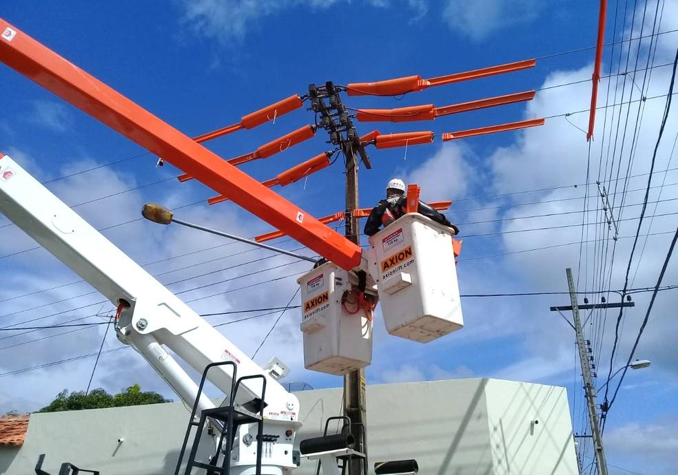 Obras estão sendo realizadas em várias cidades do estado — Foto: Energisa/Divulgalção