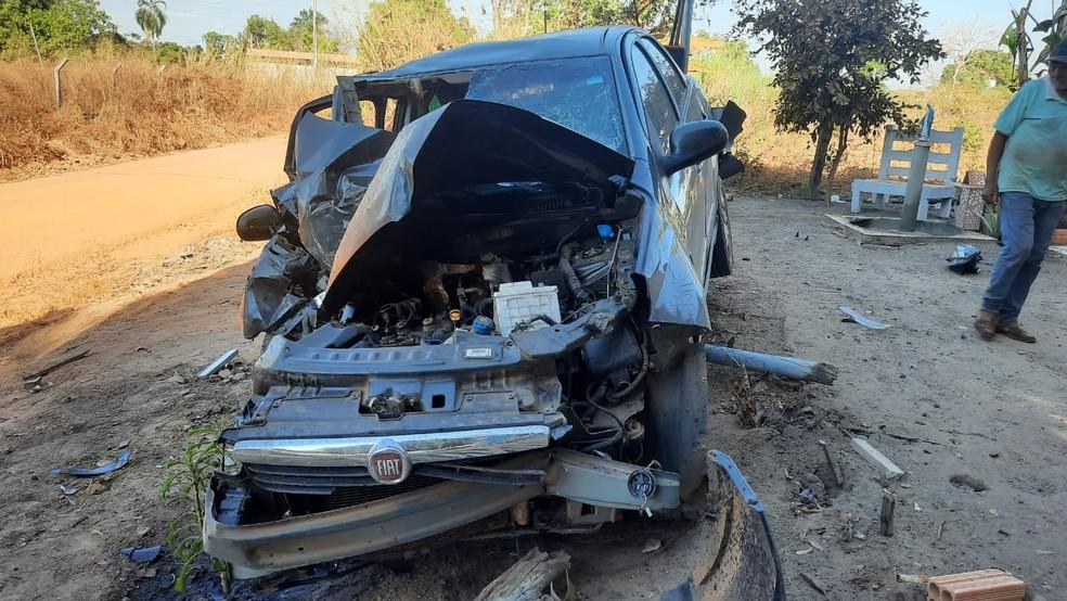 Uma policial penal morreu na tarde desta terça-feira (18) vítima de acidente de trânsito na cidade de Nova Xavantina — Foto: Divulgação