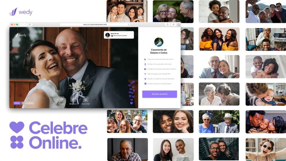 Start up Wedy criou uma plataforma para celebrações de casamento online — Foto: Wedy/Divulgação