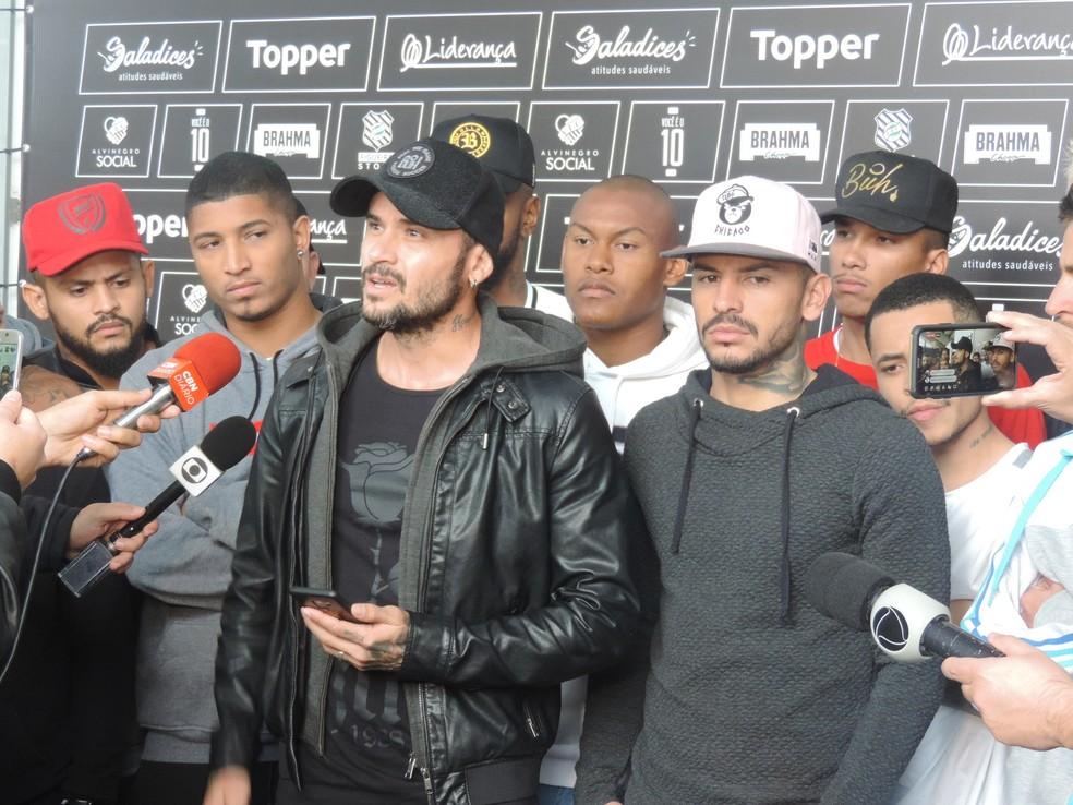 Figueirense Jogadores Greve — Foto: Guto Marchiori