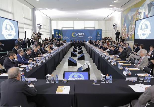 Primeira reunião do Conselhão, do governo Temer (Foto: Beto Barata/PR)
