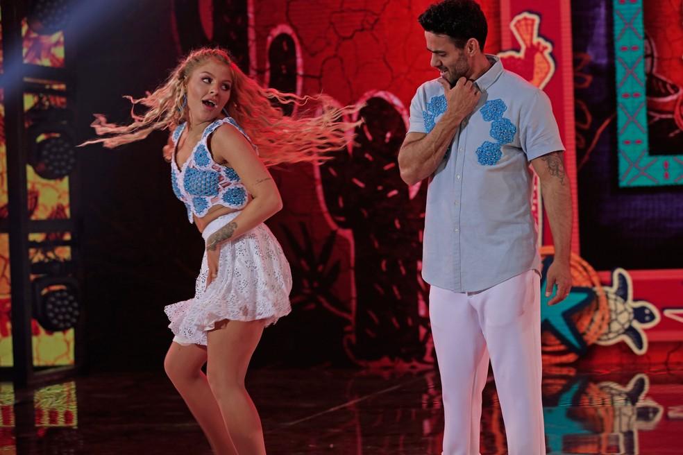 Luísa Sonza dança forró na segunda rodada do 'Dança dos Famosos' — Foto: Joca Costa/TV Globo