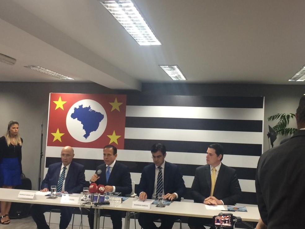 Doria anuncia Meirelles para a Secretaria da Fazenda — Foto: Tahiane Stochero/G1