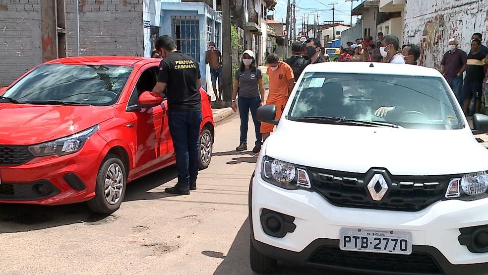 Polícia afirma que não houve colisão entre o veículo de Diogo Costa e o autor do crime, Raimundo Cláudio — Foto: Reprodução/TV Mirante
