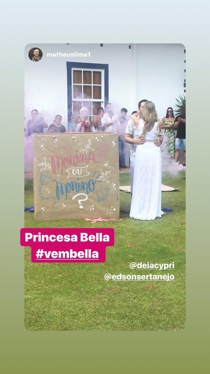 Chá revelação da Bella (Foto: Reprodução/Instagram)