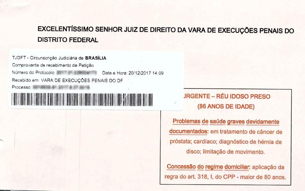 Petição da defesa de Paulo Maluf pede concessão de regime de prisão domiciliar por motivos de idade e saúde (Foto: Reprodução)