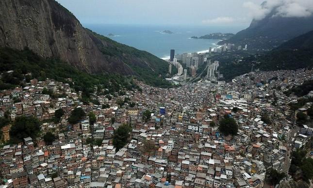 A comunidade das Rocinha, no Rio de Janeiro