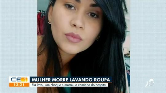 Mulher morre após levar choque em máquina de lavar na zona rural de Sobral, no Ceará