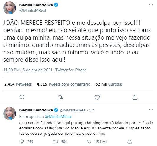 Marília Mendonça (Foto: Reprodução / Twitter)