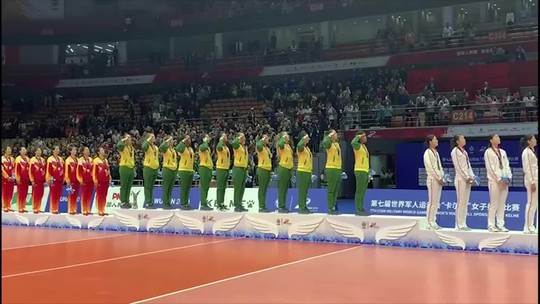 Com Sassá, Brasil bate a China e conquista ouro no vôlei dos Jogos Mundiais Militares