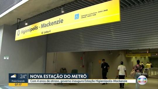 Com atraso de 4 anos, SP inaugura estação Higienópolis-Mackenzie