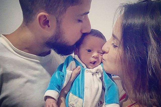 Thávyne Ferrari, o marido, Danilo, e o filho deles, Henrique (Foto: Reprodução / Instagram)