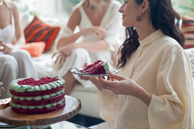 Lifestyle natal entre amigas - Bolo Red Velvet (Foto: Mayra Azzi)
