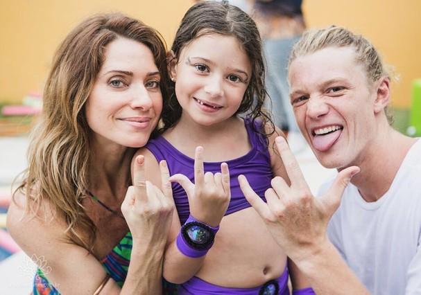 Letícia Spiller, Stella e Pedro (Foto: Instagram/Reprodução)