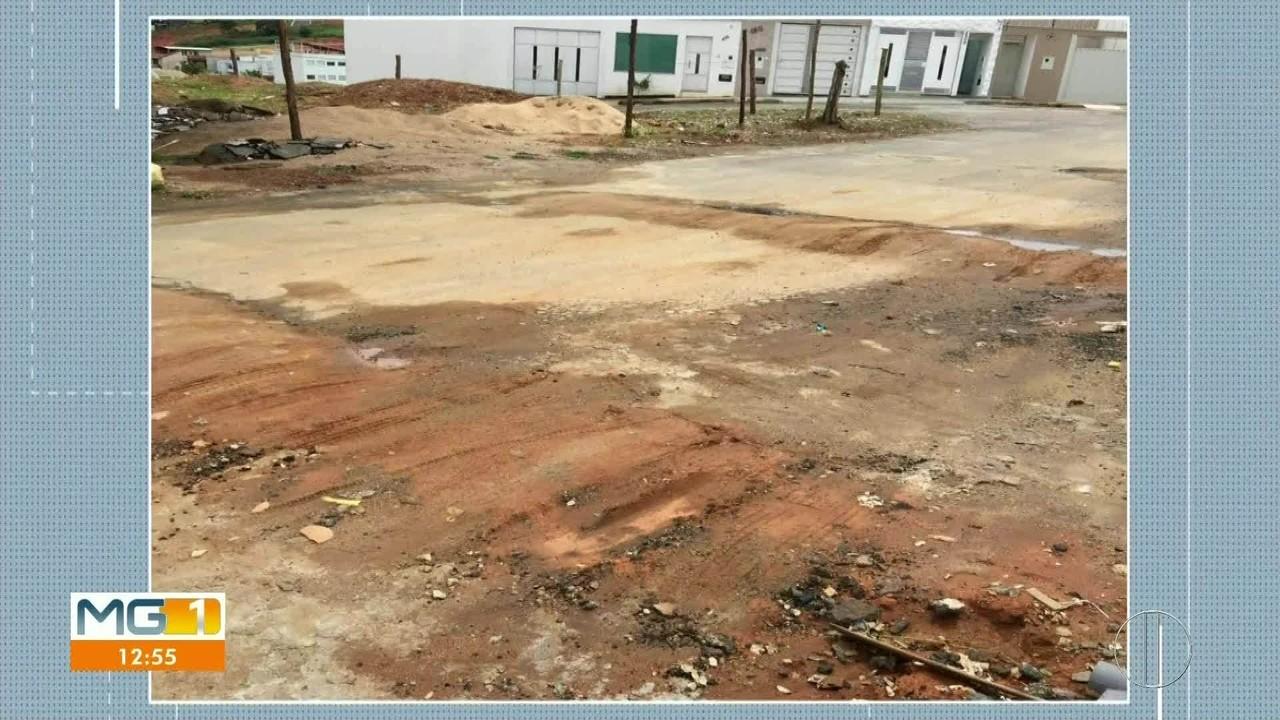 VC no MG1: morador envia fotos de buraco em rua de Governador Valadares