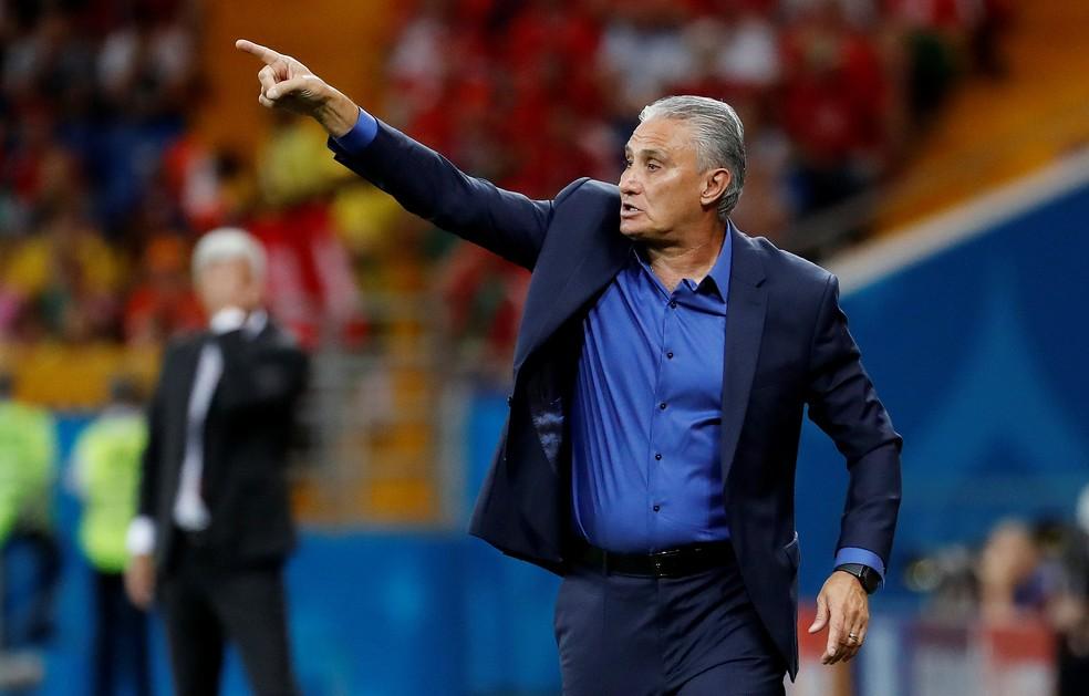 Tite criticou a arbitragem após o jogo (Foto: Reuters)