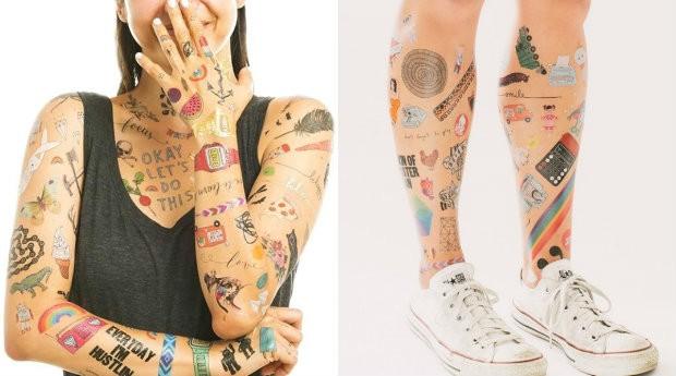 Tatuagens da Tattly vão de R$ 20 a R$ 80 (Foto: Divulgação)