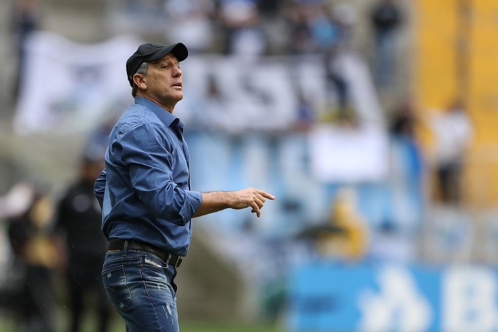 Renato Portaluppi, o treinador do Grêmio é o mais longevo da Série A do Brasileirão — Foto: Lucas Uebel / Grêmio, DVG