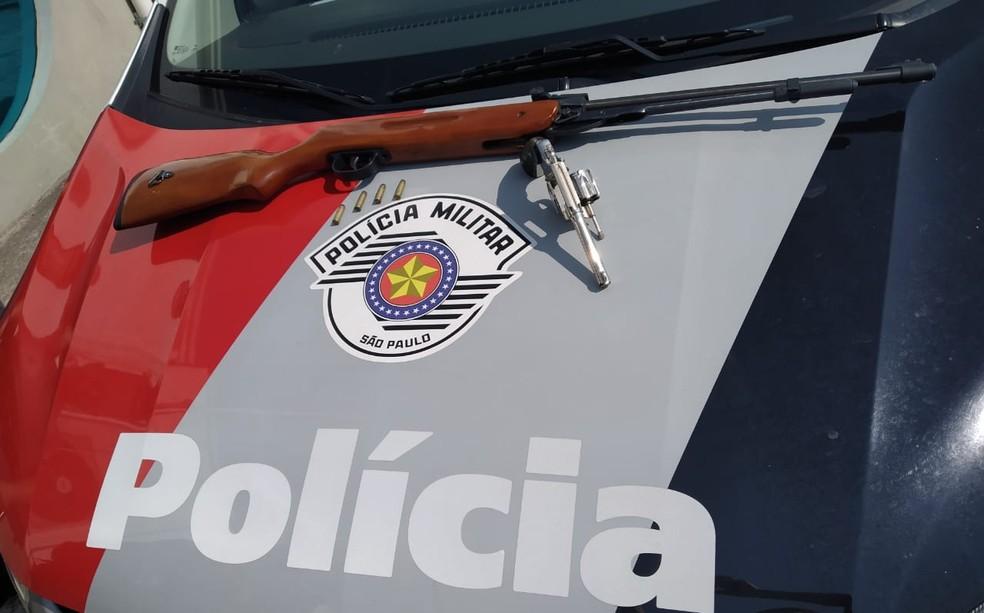 Armas utilizadas no assalto também foram encontradas — Foto: Arquivo pessoal