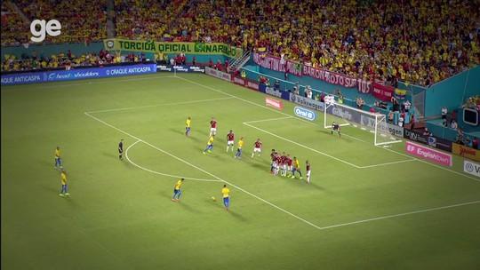 O jejum de gols de falta vai acabar? Seleção Brasileira não marca assim desde 2014