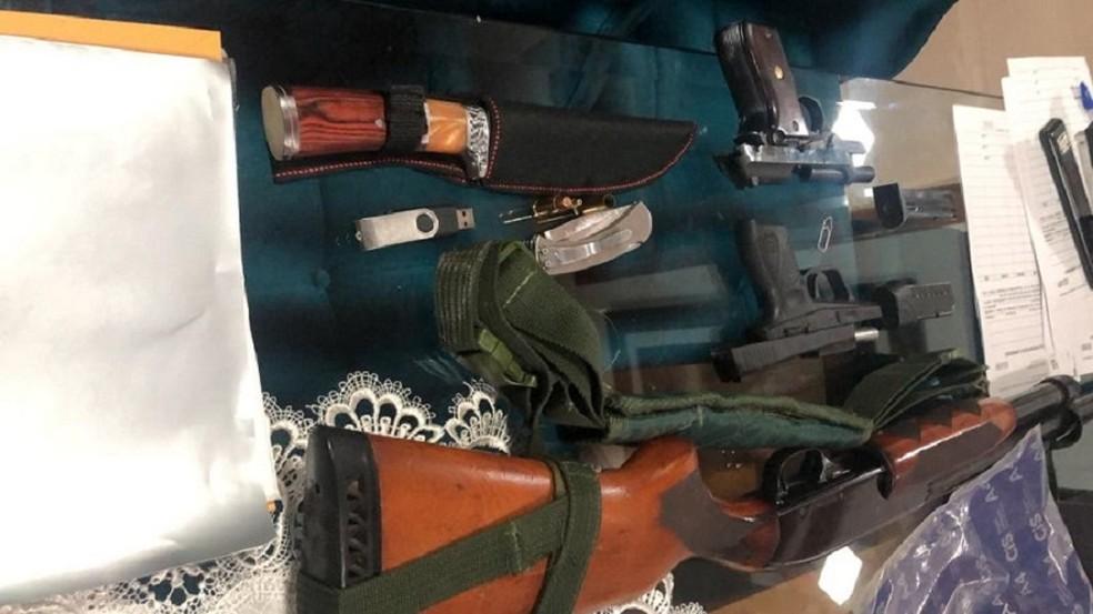 Operação apreende armas e dinheiro em investigação de fraudes de licitações na prefeitura de Tailândia, no PA — Foto: Ascom/MP