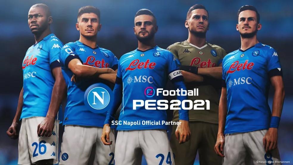 O Napoli é um dos novos times licenciados pela franquia PES — Foto: Divulgação/Konami