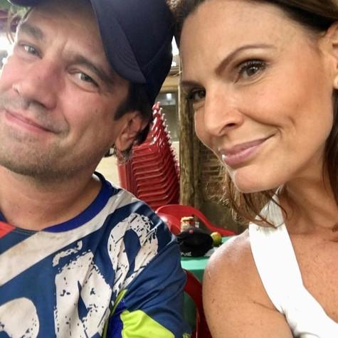 Laura Muller com o namorado, Ricardo Ferreira (Foto: Arquivo pessoal)