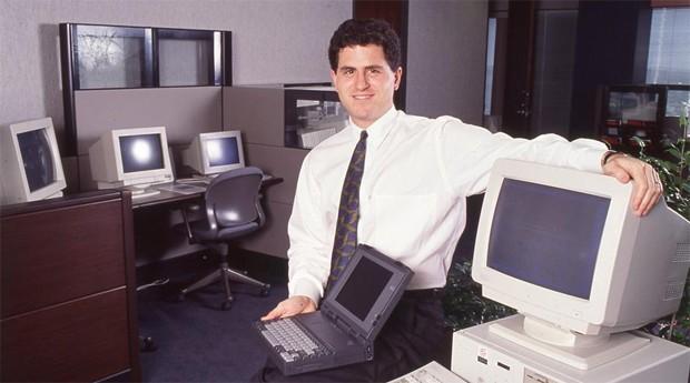 Michael Dell, na década de 1990: nessa época, empresa já despontava como uma importante empresa de tecnologia  (Foto: Divulgação )