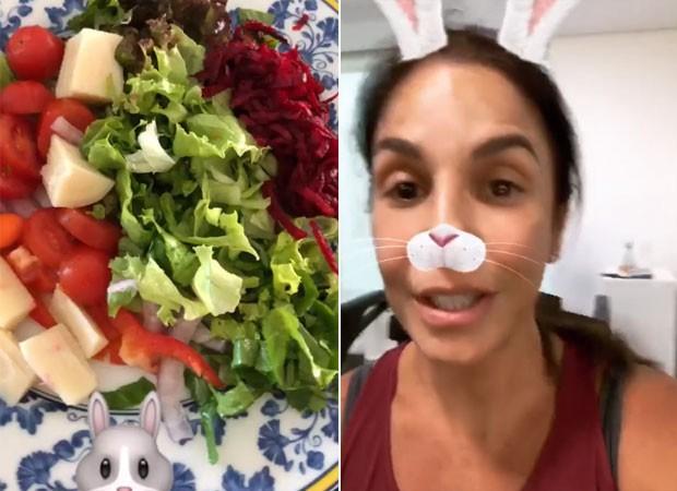 Ivete Sangalo mostra rotina fitness (Foto: Reprodução)