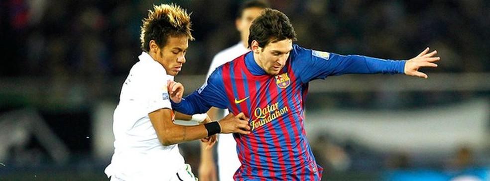 Messi e Neymar na final do Mundial de 2011 — Foto: AFP