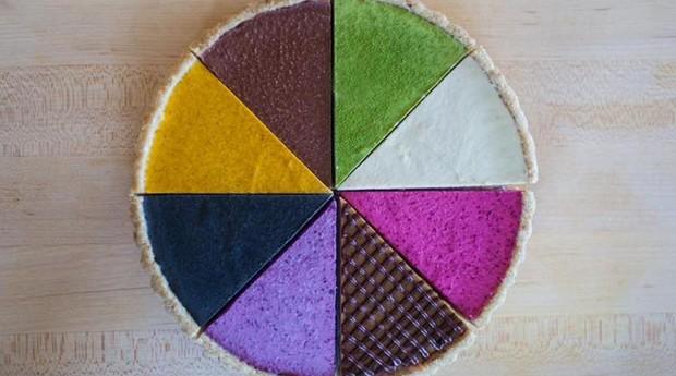 Fatias das tortas de Watt: colorido puro (Foto: Divulgação Trove)