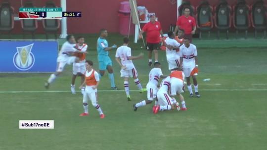 O gol de São 1 x 0 Vitória pelo Campeonato Brasileiro Sub-17
