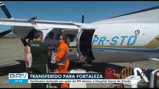 Destaques do dia: Sanfoneiro baleado na BA em ação da PM é transferido para Fortaleza
