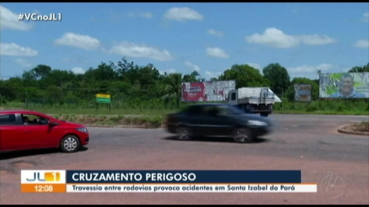 Cruzamento de rodovias traz riscos em Santa Izabel do Pará