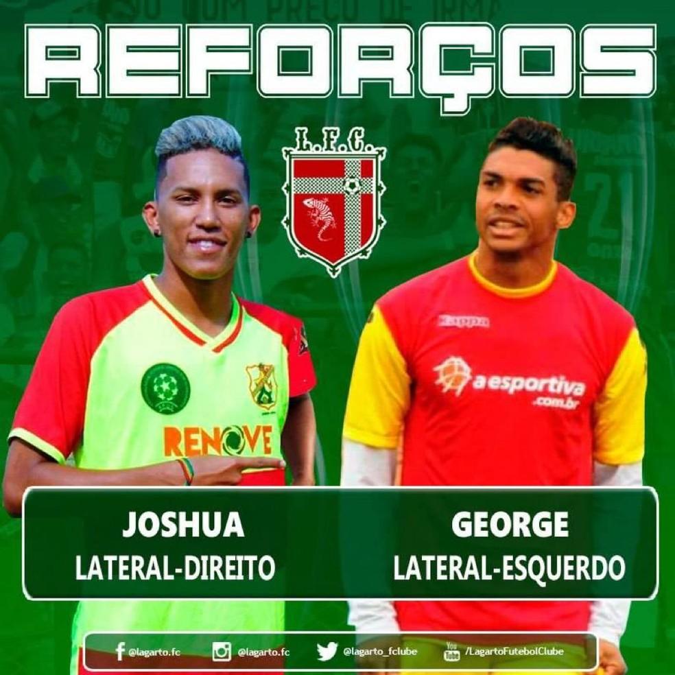 0824b9f21 Mercado da bola  Lagarto anuncia dois laterais para temporada 2019 ...