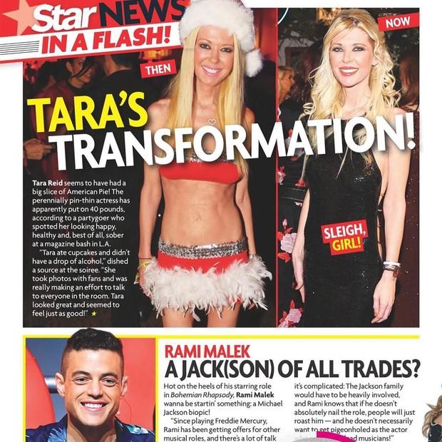 Tara Reid elogia revista que divulgou que ela ganhou 18kg na balança (Foto: Reprodução/Instagram)