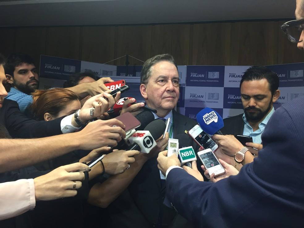 Paulo Rabello de Castro, presidente do BNDES, em entrevista a jornalistas (Foto: Daniel Silveira/G1)