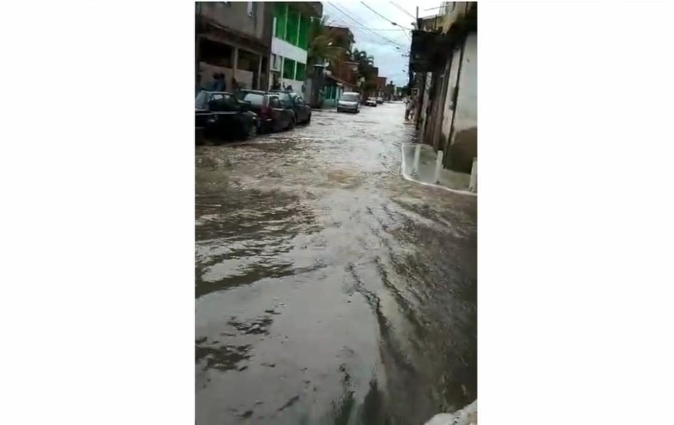 Rua do bairro Ulysses Guimarães — Foto: Reprodução/TV Gazeta