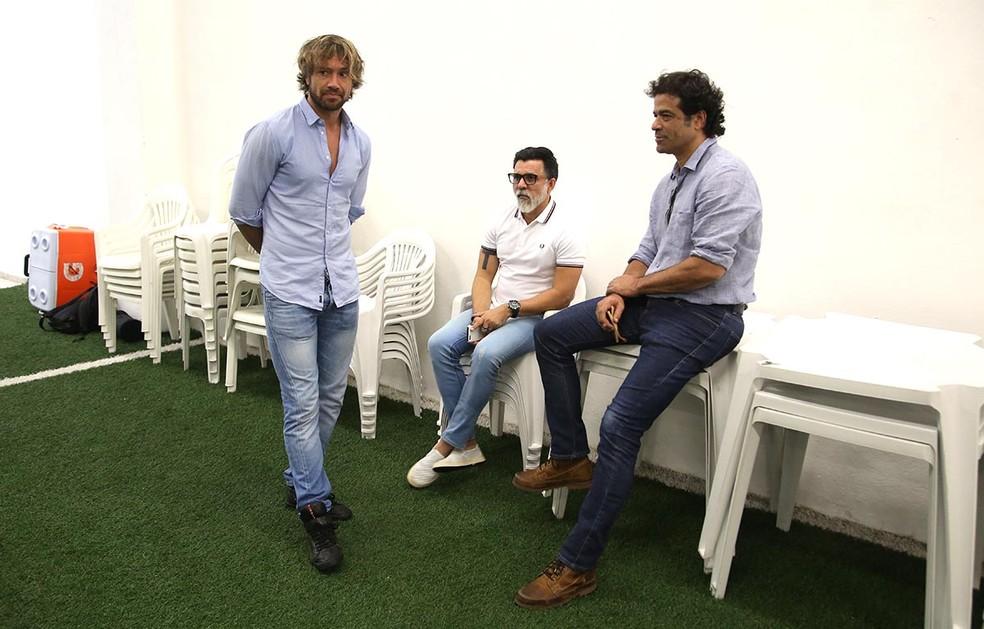 Lugano, Raí e Ricardo Rocha: o trio que bancou Aguirre no São Paulo (Foto: ubens Chiri / saopaulofc.net)
