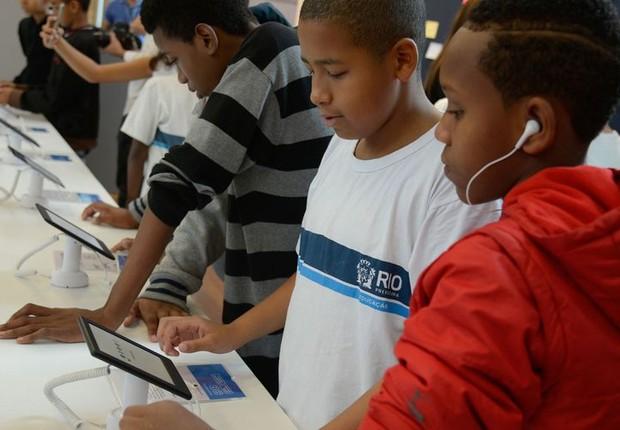 Apenas 6% das escolas em 2018 tiveram acesso a tablets - Tomaz Silva/Agência Brasil (Foto: Tomaz Silva/Agência Brasil)