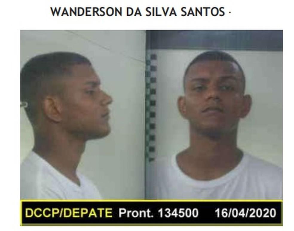 Wanderson da Silva Santos é considerado foragido, segundo Seap — Foto: Reprodução