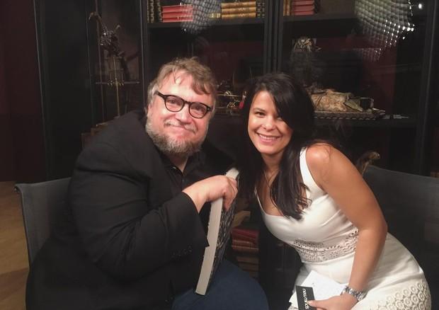 Aline Pimentel com Guillermo Del Toro (Foto: Reprodução/Instagram)