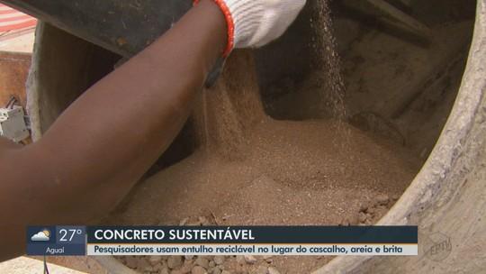 Pesquisa da USP usa entulho de construção no lugar de areia e brita em concreto sustentável