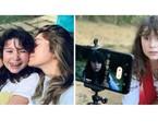 Aos 9 anos, Stella, filha de Letícia Spiller, estreará nas telas interpretando a mãe na infância no filme 'Enquanto seu lobo não vem', de Jorge Farjalla. O curta é rodado na quarentena | Acervo pessoal