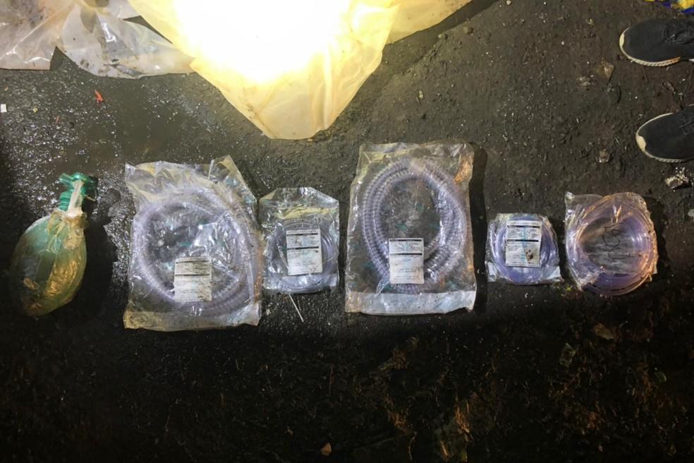 Materiais foram encontrados em Itatinga — Foto: Prefeitura de Itatinga/Divulgação